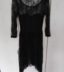 Haljina crna od čipke