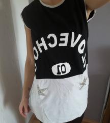 Crno bijela majica bez rukava