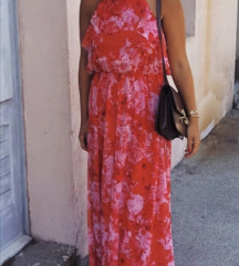 RESERVED Duga crvena haljina