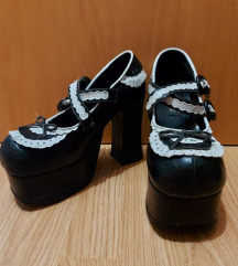 French maid platform shoes