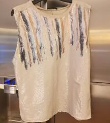 Majica s elegantnim šljokicama Zara. Nenošeno