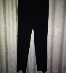Poslovne hlače visoki struk šire nogavice