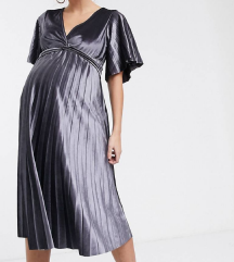 Srebrna Asos Maternity haljina