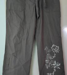 lagane široke pamučne hlače - cijena s tiskom