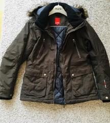Maslinasta jakna kapuljačom vel M-L 40