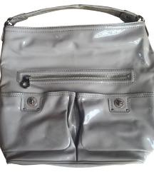 Marc Jacobs lakirana siva torba