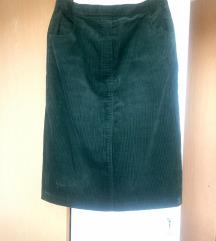 Samt suknja 40