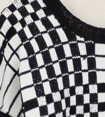 Vintage ručno pletena pamučna bluza  L_XL/