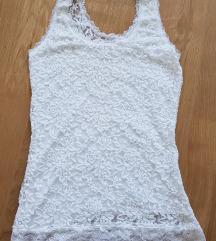 Bijela čipkasta majica