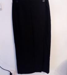 Crna duga suknja na preklop