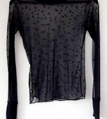 Crna prozirna majica čipka 36 SISLEY