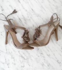 Sandale na vezanje s resama, 37