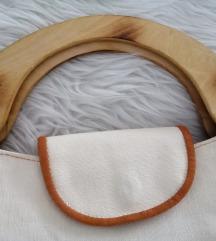 Posebna platnena torbica s drvenim ručkama