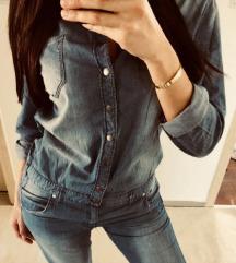 Retro jeans kombinezon
