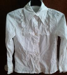 Bluza za djevojčice (bijela, volani, vez) vel.12