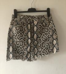 Zara suknja zmijskog uzorka
