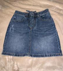 Jeans suknja na vezanje