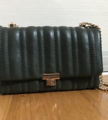 Zara tamnozelena torbica