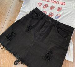 Crna traper suknja