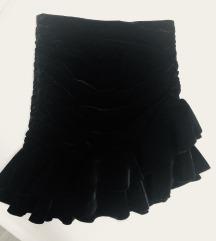 Zara baršunasta mini suknja
