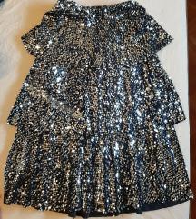 Crno-srebrna šljokičasta suknja