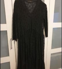 Zara  crna haljina čipka S