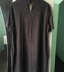 Crna haljina brusena koza