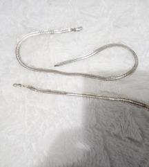 Srebrna ogrlica i narukvica