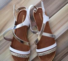 Zlatno bijele sandale