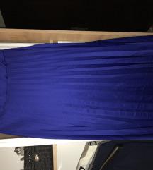Plisirana suknja kraljevski plave boje