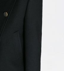 ZARA crni kratki kaput / jakna