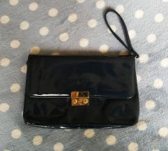 Tamnoplava lakirana torbica