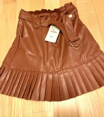 nova zara kozna suknja