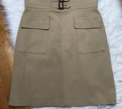 🍁ZARA🍁 uska krem suknja veliki đepovi