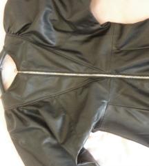 Bershka kožna haljina