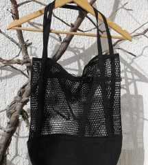 Crna mrežasta torba