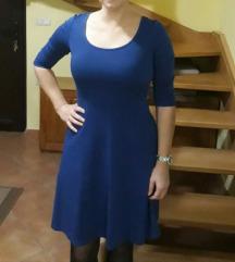 Plava,crna,siva haljina
