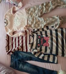 Lot 7-8,hlače,majice,flus piđama