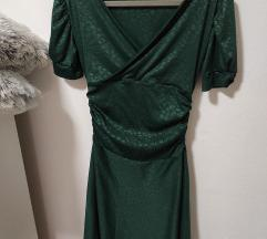 Smaragdno zelena haljina-sa pt.