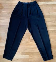 Massimo Dutti crne lepršave hlače