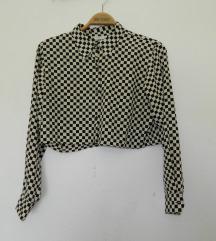 Crop košulja s kvadratićima