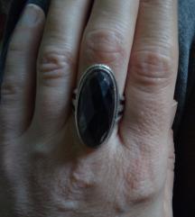 Prsten srebro i onix