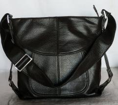 Tamno smeđa kvalitetna kožna torba rez
