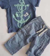 H&M Logg hlače+majica vel.92 ( 1,5 -2 god)