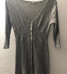Siva kratka haljinica S