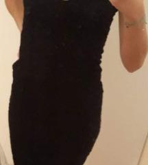 Čipkasta crna uska haljina ZARA