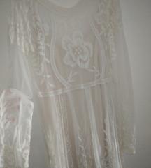 Zara midi vezena haljina