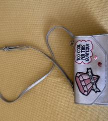 Zara srebrna torbica
