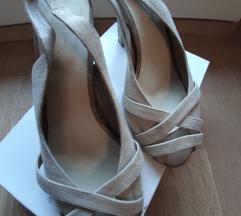 Kožne bež ženske sandale br. 38