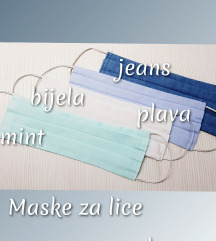 Pastelna pamučna maska za lice